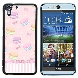 - sweets bowtie girls dessert - - Modelo de la piel protectora de la cubierta del caso FOR HTC Desire EYE M910x RetroCandy