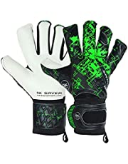 Save on Gksaver football goalkeeper gloves prime pro BG hybrid cut fingersave professional quality (No Fingersave No Personalization, Size 9) and more