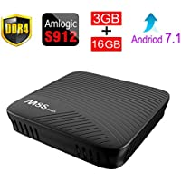 ESHOWEE M8S PRO Android 7.1 TV Box Amlogic S912 DDR4 3GB 16GB 64 bit Octa core ARM Cortex-A53 CPU up to 2 GHz Built in 2.4G/5G WiFi With Bluetooth 4.1+HS