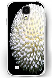 SPRAWL Fashion Design Samsung Galaxy S4 Back Cover Ultra Slim Fit Hard Floral Case White Bloom