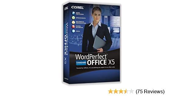 Corel wordperfect office x5 standard greatly discounted price