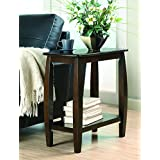 Coaster Casual Cappuccino Accent Table with Bowed Leg