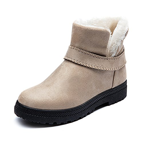 Winter Beige Snowboots Women's Girl's Fortuning's Cotton Short JDS boots Warm Ankle Flat P6qYq