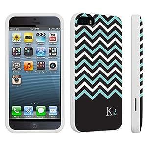 DuroCase ? Apple iPhone 5 / iPhone 5s Hard Case White - (Black Mint White Chevron K)