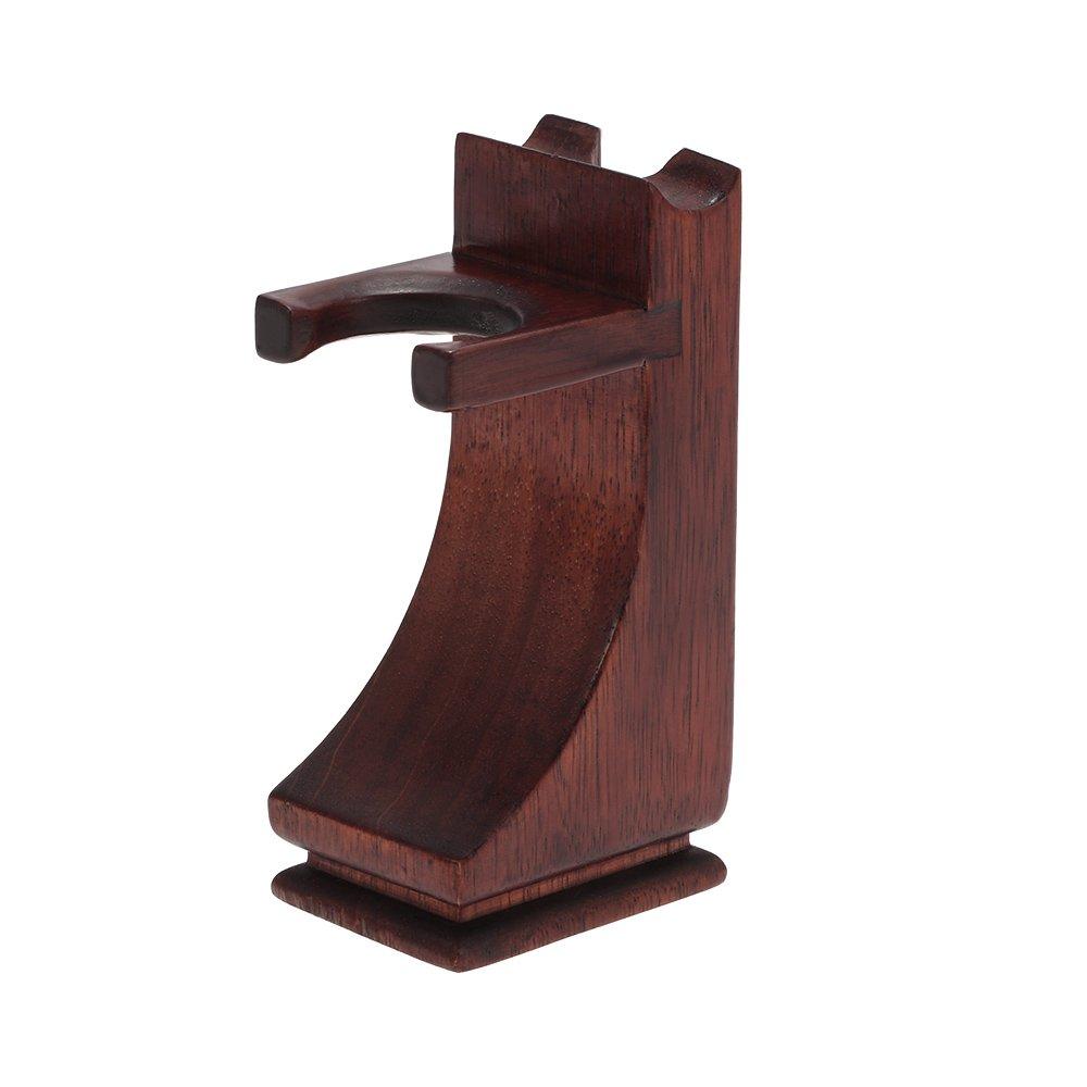 Anself Shaving Holder Stand for Shaving Razor Brush Solid Wood Shaving Tool Organizer W4270-HMMFBA