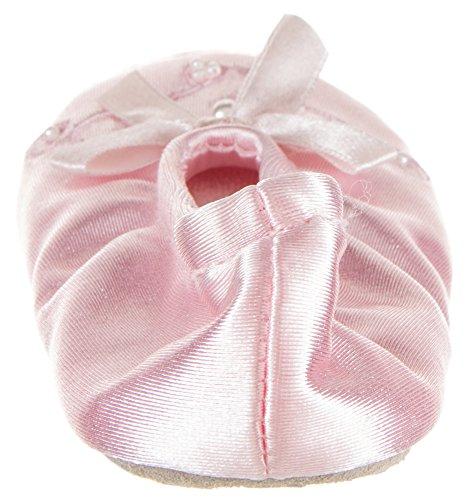 Pearl Ballerina Slippers Girl's Pink 8 Small Satin 7 XX Isotoner Tw7qRUn7