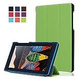 Lenovo Tab3 7 Essential Funda de Cuero,Ultra Slim Funda Case de Cuero para 7'' Tablet Lenovo Tab3 7 Essential Tab 3-710F Smart Cover Case Carcasa Piel con Stand Función