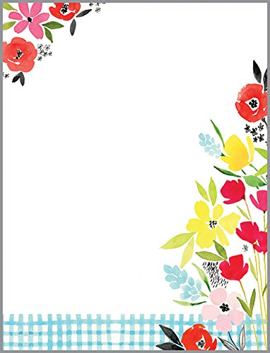 Poppy Garden Desk Note Refill, Memo Sheets 150 Note Papers, 3.25 x 4.25