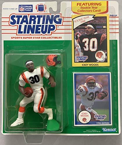 Bengals Cincinnati Woods Ickey - 1990 KENNER STARTING LINEUP NFL ICKEY WOODS CINCINNATI BENGALS MOC