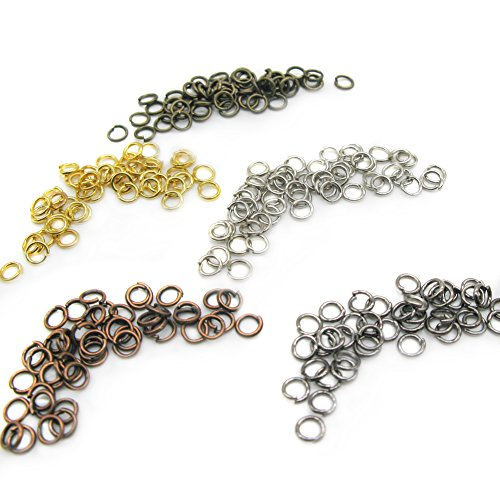 TOAOB Open Jump Rings Multi Colors 4mm 22 Gague for Jewelry Making Pack of 1250pcs (Antique Copper Split Rings compare prices)