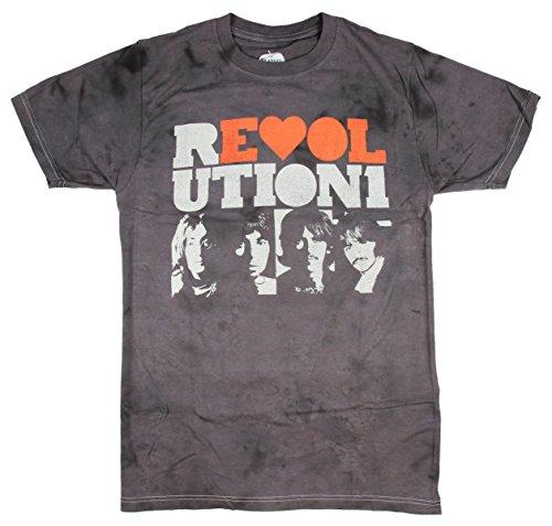 Hybrid Beatles Men's Distressed Revolution Photos T-Shirt ()
