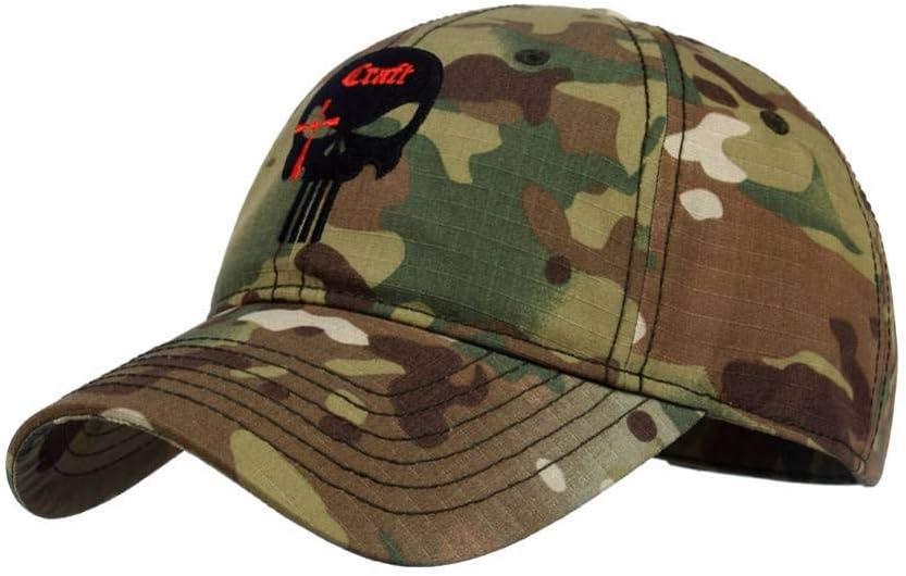 DAIDAIBQM Men Women Baseball Cap Running Cap Hat Tactical Hat Punisher Team Cotton Hat Adjusted