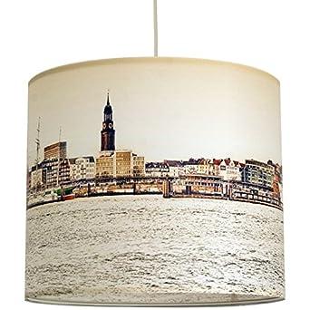 anna wand Lampenschirm HAMBURG ELBE – Schirm für Lampen mit ...