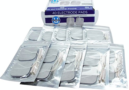TENS Electrodes 2 X 2 Inch - 8 pcs Premium USA Made TYCO Gel Electrode For All Pin Leadwire Applications Including EMS IF MC NMES HVGPS Massage Best TENS Replacement Pads Available FDA Cleared OTC