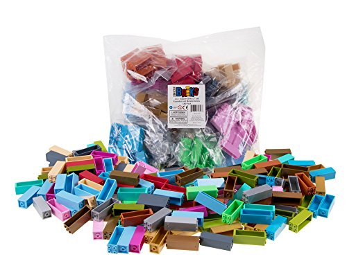 Strictly Briks Classic Stackers Set of 180 Building Bricks | New and Improved 2x2 Stackers for Towers and More! | 100% Compatible with All Major Brands | Rainbow and Metallic - New Stacker
