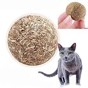 UEETEK Naturaleza gato menta juego juguetes bola cubierta con hierba gatera Bell juguete para mascotas gatito: Amazon.es: Hogar