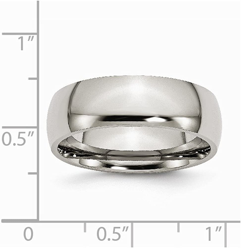 FB Jewels Solid Titanium 7mm Polished Wedding Band