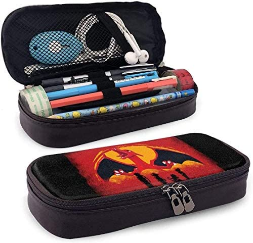YOLOP Federmäppchen Pencil Case Big Capacity Storage Pen Pencil Pouch Stationery Organizer Portable Bag Holder with Zipper - Red Dragon Charizard Redemption
