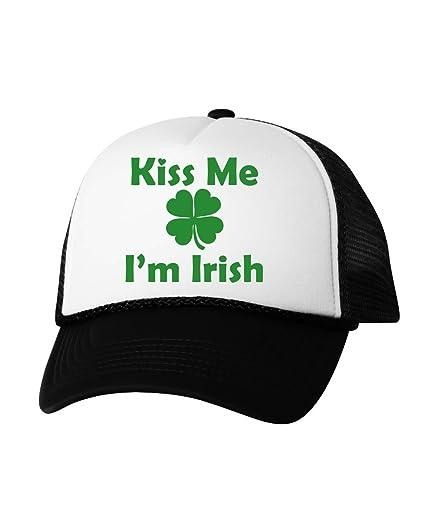 76700d37765 Vizor Kiss Me I m Irish Hat Irish Trucker Hat ST. Patrick s Day Gifts
