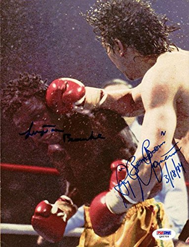 Ray Mancini & Bramble Authentic Autographed Magazine Page Photo #Q95709 PSA/DNA Certified Autographed Boxing Magazines