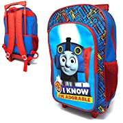 Children's Character Luggage Deluxe Wheeled Trolley Backpack Suitcase Cabin Bag School (Thomas)