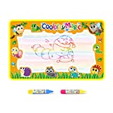 Coolplay® Large Doodle Mat Magic Pen Water Painting Drawing Writing Board Toy + 2 Water Drawing Pen for Baby Kids Gift, 31.5'X 23.6 Inches
