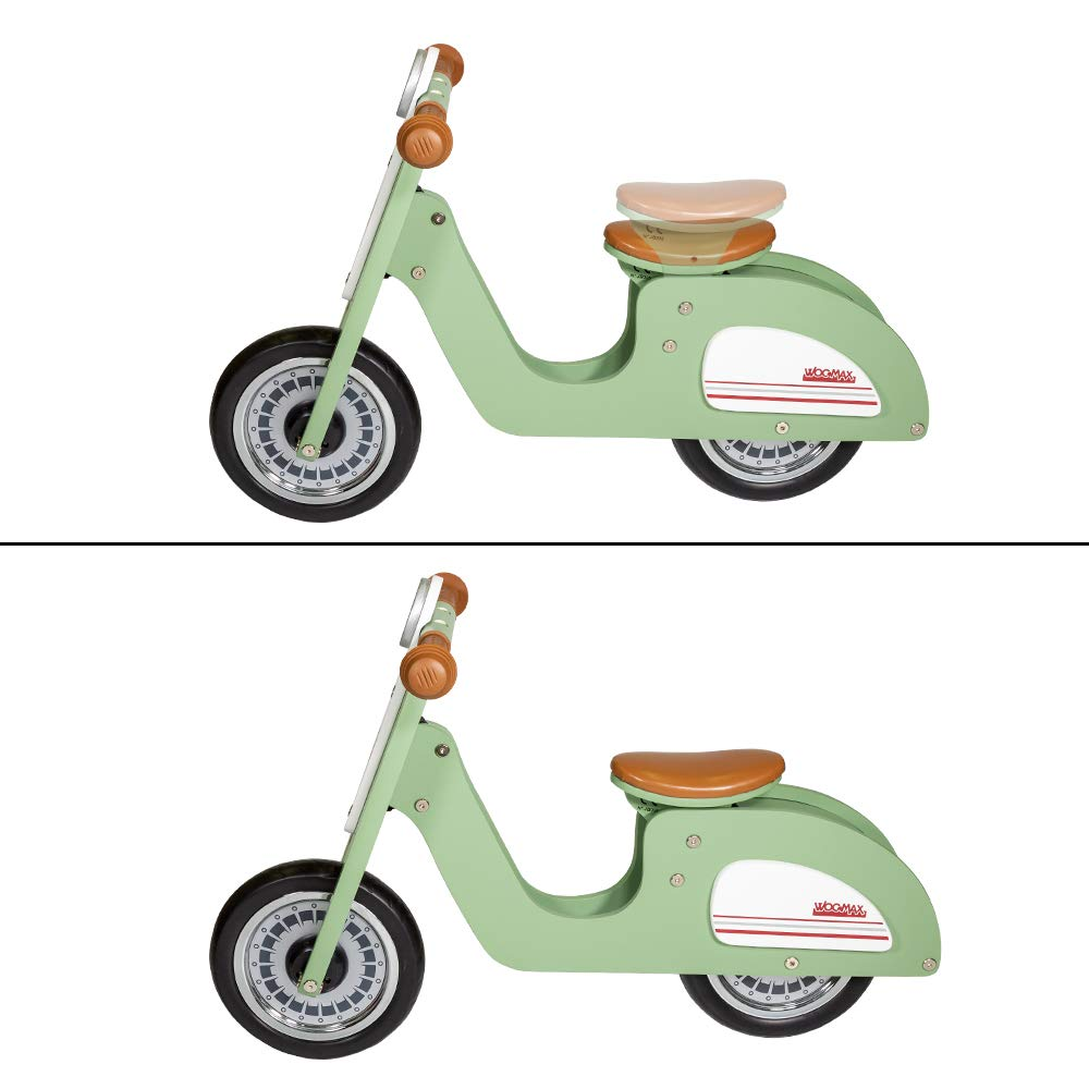 85378 WOOMAX 80 x 37 x 54 cm Scooter Sliders Wood 10 inches