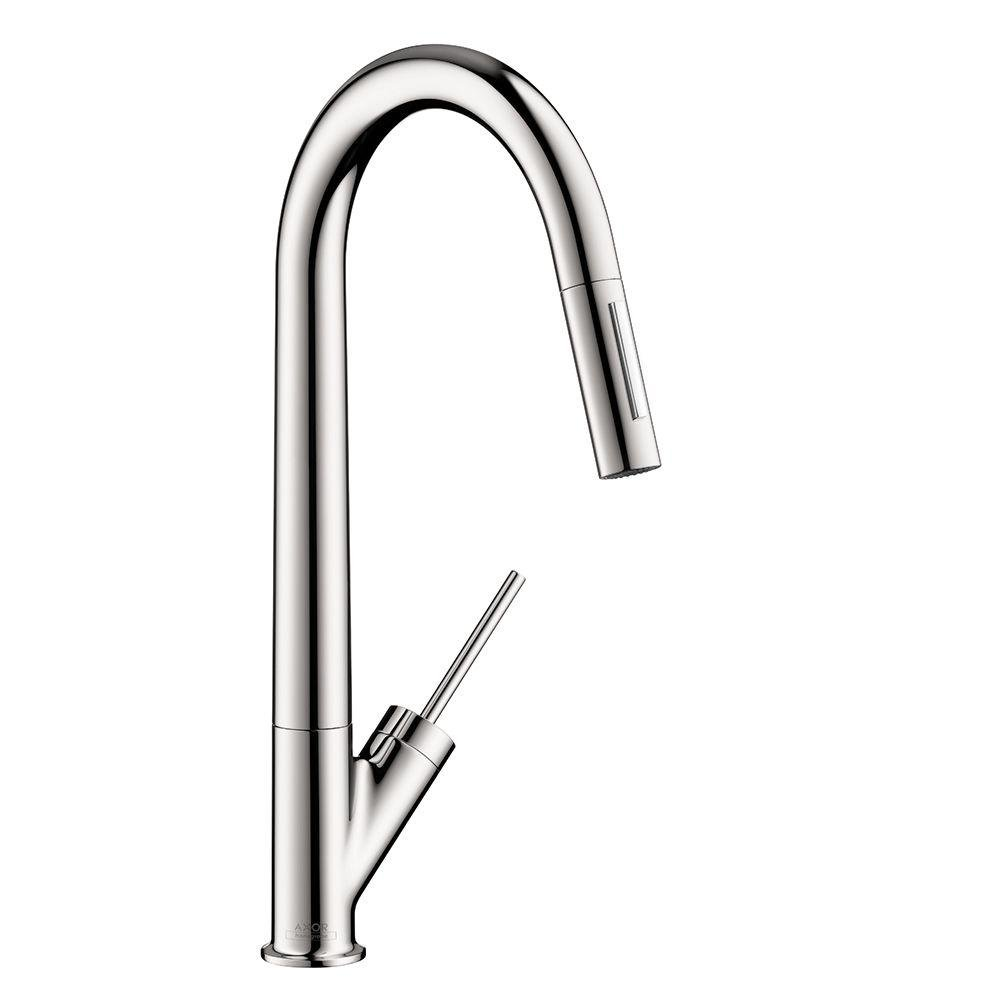 Hansgrohe 10821001 Starck HighArc Kitchen Faucet, Chrome - Touch On ...