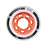 quad atom - ATOM Boom Nylon Solid Core Quad Roller Skate Wheels - Available in 59x38 or 62x44 sizes and 3 hardnesses (Firm, X-Firm, XX-Firm) (Orange - X-Firm, 59mm - 8 pack)