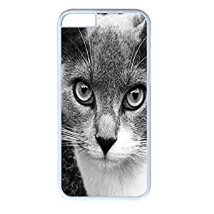 Hard Back Cover Case for iphone 6 Plus,Cool Fashion White PC Shell Skin for iphone 6 Plus with Gata Clio