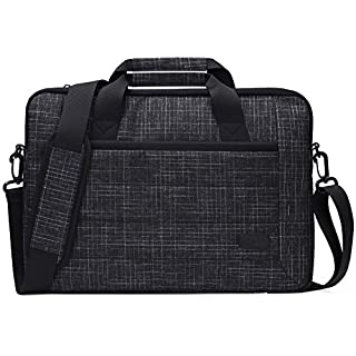 ProCase 13-13.5 Inch Laptop Sleeve Tote Bag with Shoulder Strap and Handle for Laptop Ultrabook MacBook Pro Air Surface Chromebook Notebook Acer Asus Dell HP Lenovo Galaxy Sony Toshiba -Black Plaid