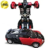 Toy Cars, XHAIZ Transformers Toy for Boys One-Step Changer (001 Red) Image