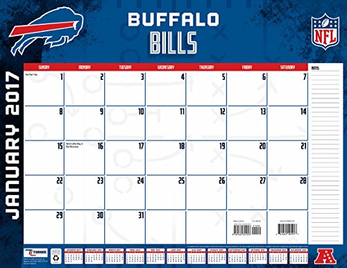 "Turner Licensing Sport 2017 Buffalo Bills Desk Pad Calendar, 22""X17"" (17998061529)"