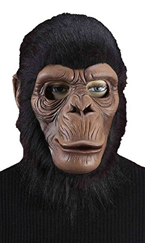 [Chimpanzee Chimp Monkey Furry Mask Ape Zoo Animal Adult Costume Accessory] (Chimp Hands Costume)