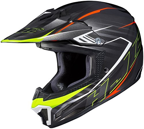 - HJC Youth CL-XY 2 Helmet - Blaze (Medium) (Black/FLO Yellow)