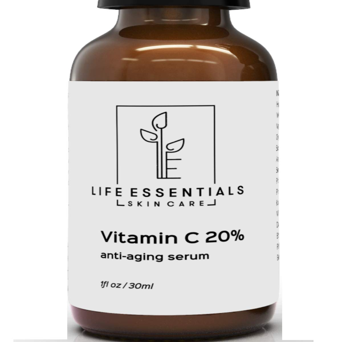 8f5faaf6edd Amazon.com  Vitamin C Serum for Face 20% - Hyaluronic Acid - Anti Wrinkle - Anti  Aging Serum - Fades Dark Spots - Repairs Skin - Organic Ingredients  Beauty