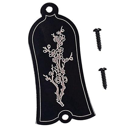 Sharplace Alloy Truss Rod Cover para Epiphone Accesorio para Guitarra Eléctrica Accesorios