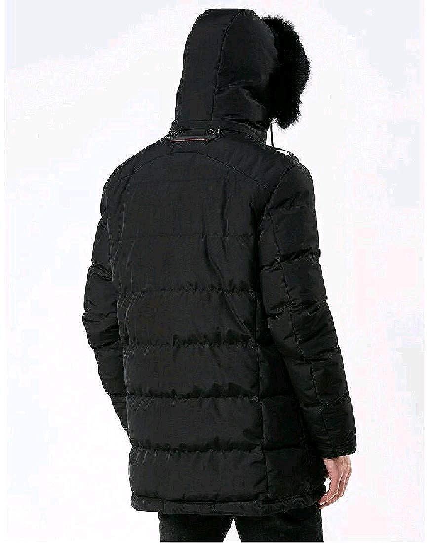 Zimaes-Men Juniors Pure Color Plus Size Hooded Overcoat Outerwear