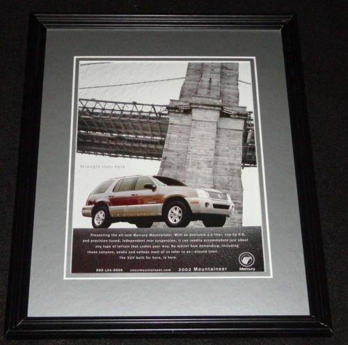 2002-mercury-mountaineer-framed-11x14-original-advertisement