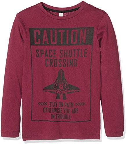 Esprit Kids Jungen Langarmshirt T-Shirt, Rot (Plum 871), 140 (Herstellergröße:S)