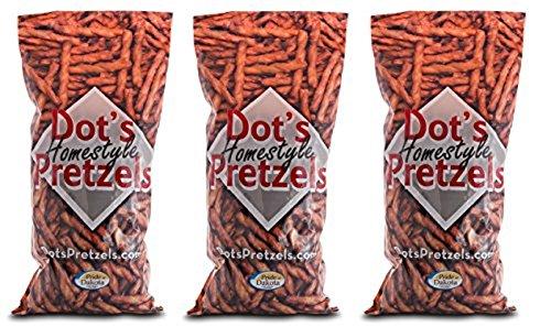 Dots Homestyle Pretzels   1Lb Bag  Pack Of 3