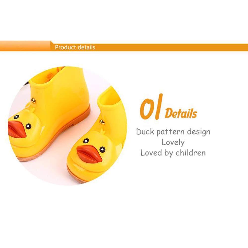 Kids Baby Girls Boys Waterproof Shoes Cute Cartoon Duck Single Rubber Rain Boots Non Slip Rain Shoes