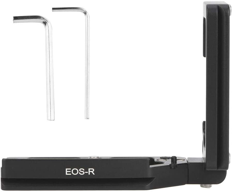 Diyeeni Type-L Micro-Camera Quick Release Handle Vertical Frame Plate Vertical Frame of Short Stretch Quick Release Plate Type EOS-R for Canon