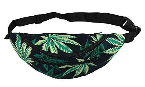 FESTIE FEVER Rave Fanny Pack (Weed 4-pockets) ()