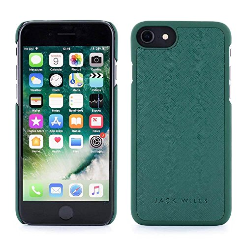 Jack Wills High Quality WRAY Saffiano Leather Back Shell Phone Case for Apple iPhone 8