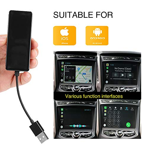 Wired Carplay USB Dongle,Android Auto, Mirroring,Smartphone Link Receiver for The Vehicle with Android System carplay Upgrade/USB Connect/SIRI Voice Control/Google Maps
