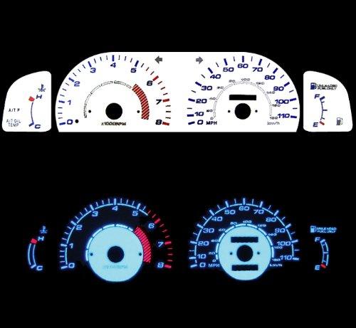 95 96 97 98 99 Toyota Tacoma White Glow (99 Reverse Speed Glow Gauges)