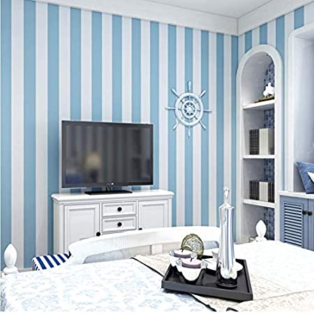 Luomei Pink Blue Stripes Wallpaper For Kids Room Baby Girls Boys Bedroom Decor Wallpapers Tv Backdrop Striped Wall Papers Roll 10mx53cm Amazon Co Uk Sports Outdoors
