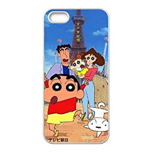 Protection Cover iPhone 5, 5S Cell Phone Case White Ekcvl Crayon Shin chan Personalized Durable Cases