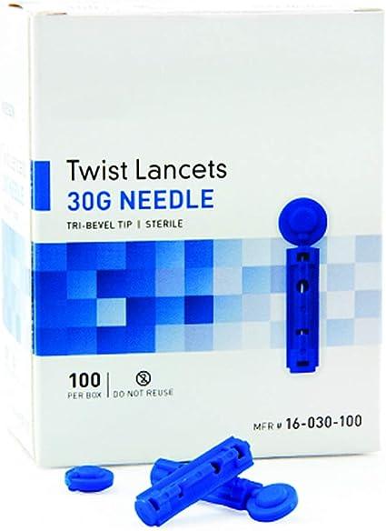 lancetas para diabetes calibre 30